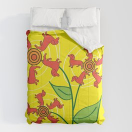 Doxie Flower Comforters