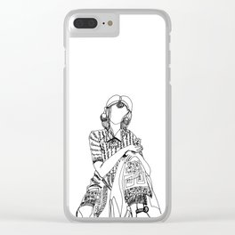 Lady Luck Clear iPhone Case