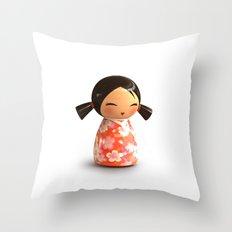 Kokeshi 07 Throw Pillow
