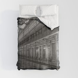 New Orleans, French Quarter, Jackson Square black and white photograph / black and white photography Comforters