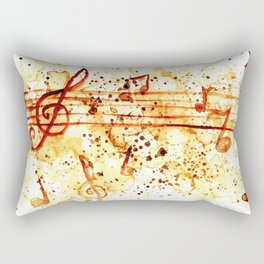Coffee stains and music notes Rectangular Pillow