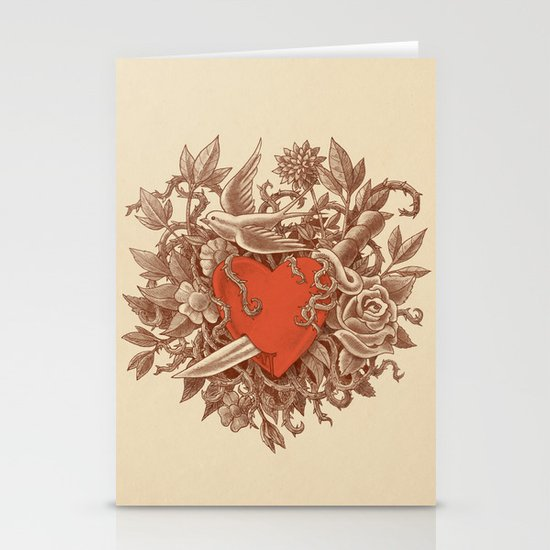 Heart of Thorns  Stationery Cards