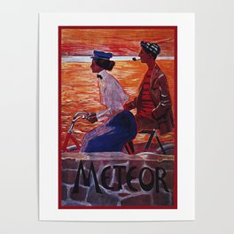 Vintage Meteor Bicycle Ad Poster Poster