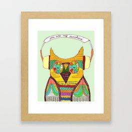 The Owl rustic song Framed Art Print