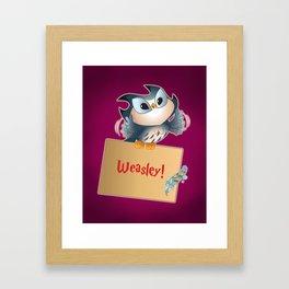 Pigwidgeon a replacement owl Framed Art Print