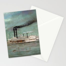 Steamboat Robert E. Lee Painting Stationery Cards