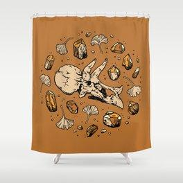 Triceratops Rocks! | Citrine Quartz Shower Curtain