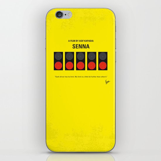 No075 My senna minimal movie poster iPhone & iPod Skin