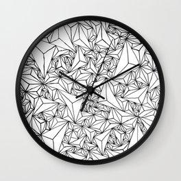 Triangle Grid  Wall Clock