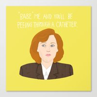 scully Canvas Prints featuring Dana Scully by Anna Valle