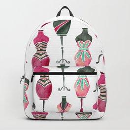 Vintage Dress Forms – Pink & Black Palette Backpack