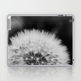 black and white dandelion Laptop & iPad Skin