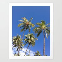 Palm Trees Sway in the Breeze If You Please  Art Print