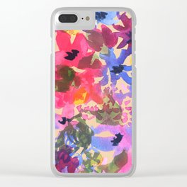 Wildflower Bunches Clear iPhone Case