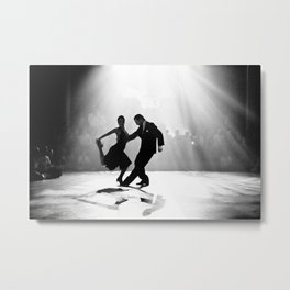 Tango in Black Metal Print