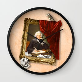 The Scribe's Secret Chamber Wall Clock