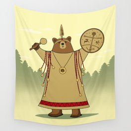 Bear Shaman Wall Tapestry