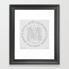Joshua 24:15 - (Letterpress) Monogram M Framed Art Print