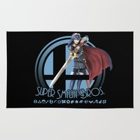super smash bros Area & Throw Rugs featuring Lucina - Super Smash Bros. by Donkey Inferno