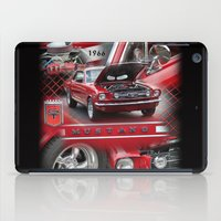 mustang iPad Cases featuring 1966 Mustang  by Andrew Sliwinski