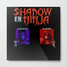 Shadow of the Ninja- Blue Shadow Metal Print