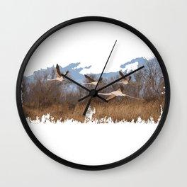 flamingo fly Wall Clock