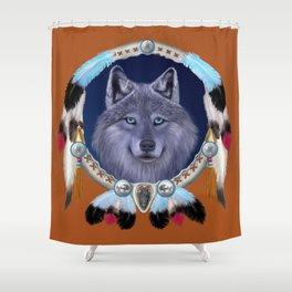 DREAM WOLF Shower Curtain
