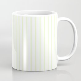 Pale Cucumber Pin Stripe on White Coffee Mug