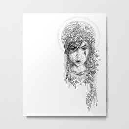 Her Moonchild Metal Print