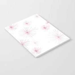 burst pink Notebook