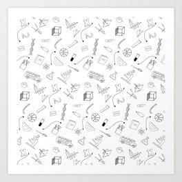 School pattern Art Print