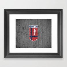 NORWAY LAKE / Sunburg / 2,327 acres Framed Art Print