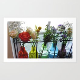 Rainbow Bouquet Art Print