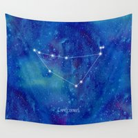 constellation Wall Tapestries featuring Constellation Capricornus by ShaMiLa
