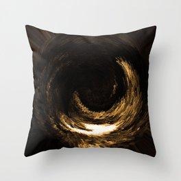 3-D Golden Eye Throw Pillow