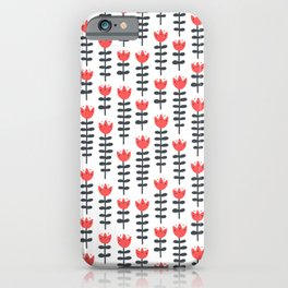 red flowers pattern iPhone Case