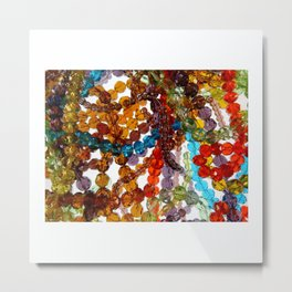 Purty Crystal Beads Metal Print