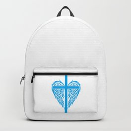 Christian cross and wings Backpack