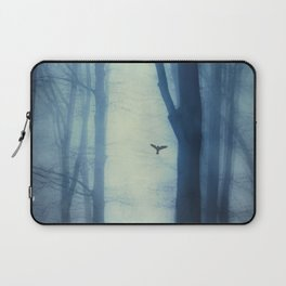 waning lines - trees in fog Laptop Sleeve