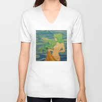 underwater V-neck T-shirts featuring Underwater by Kimball Gray