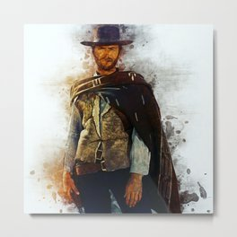 Clint Eastwood Tribute Metal Print