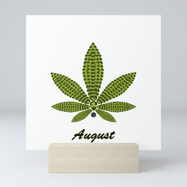 Birthstoned Leaf of Month, August Peridot Mini Art Print