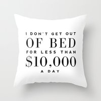 bed Throw Pillows featuring BED by I Love Decor