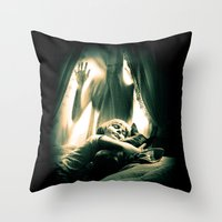 horror Throw Pillows featuring Horror by Joe Roberts