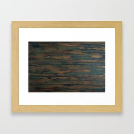 Beautifully patterned stained wood Framed Art Print