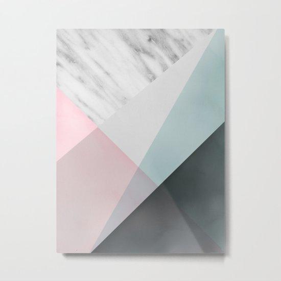 Scandinavian Mood Geometry Metal Print