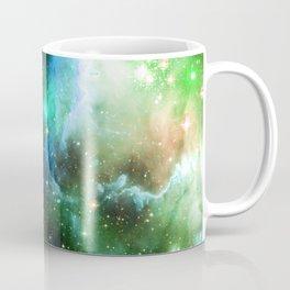 Aqua Space Nebula Coffee Mug
