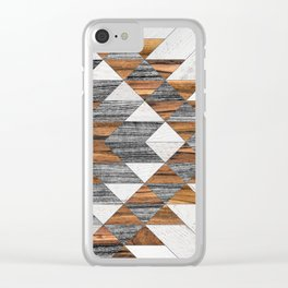 Urban Tribal Pattern No.12 - Aztec - Wood Clear iPhone Case