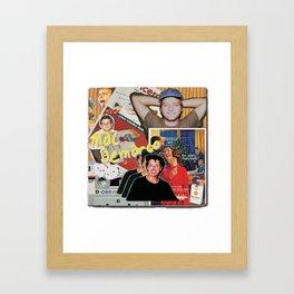Mac Demarco Collage Framed Art Print