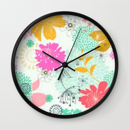 Floral vector pattern best idea Wall Clock
